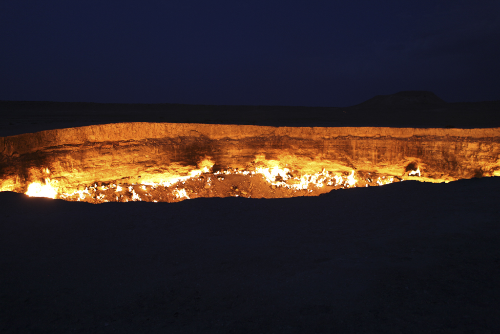 Darwaza Crater in Turkmenistan