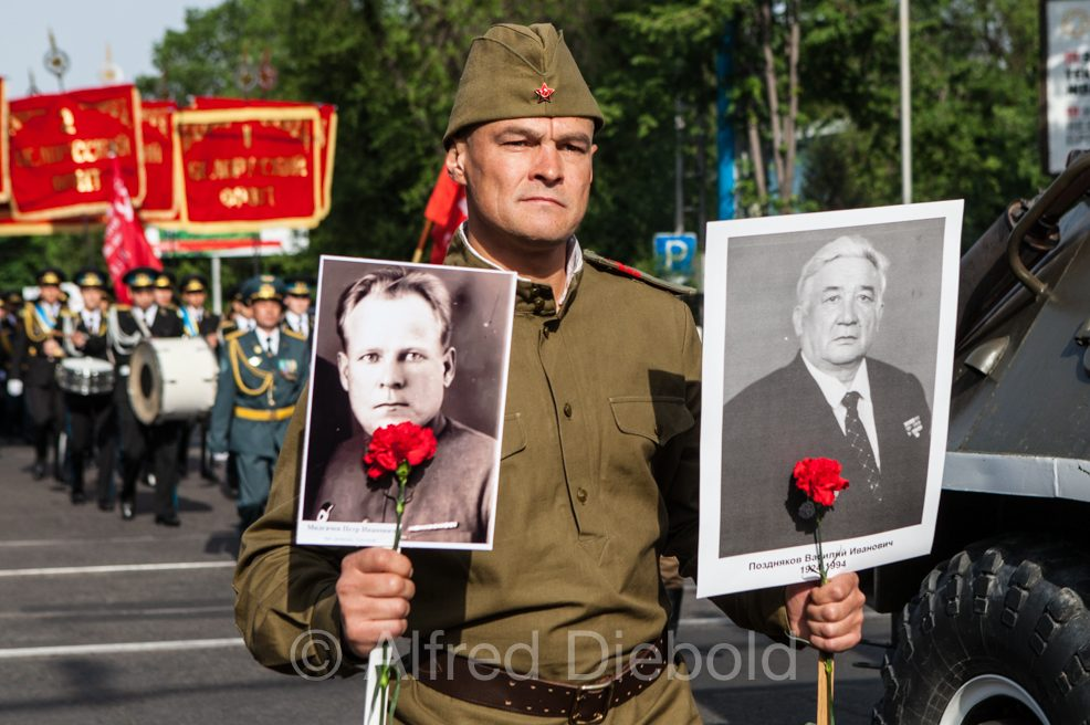 Victory Day in Almaty May 9th