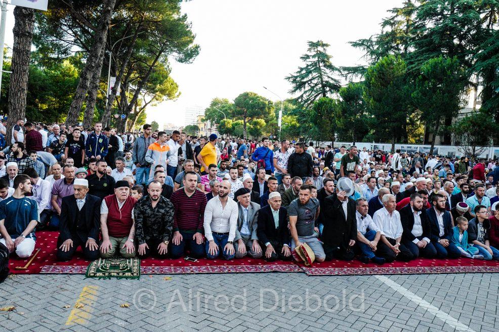 Breaking the fast in Tirana